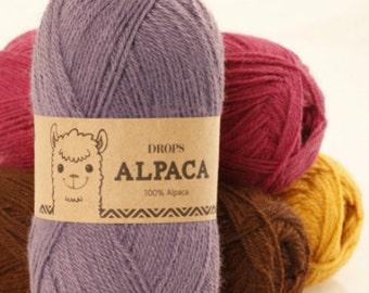 Garnstudio DROPS Design 100% Super Fine Alpaca yarn 4ply Luxury knitting wool 50g - UNI colour