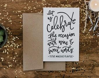 "Birthday 4""x6"" Greeting Card - Plautus"