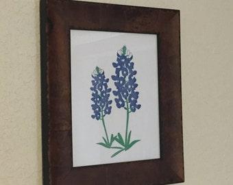 Blue Bonnet Letterpress Print