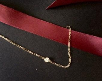 Dainty Diamond Solitaire Bracelet / Diamonds by the yard