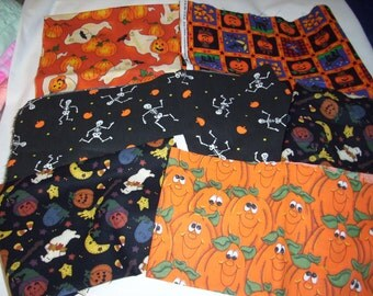 Over a Yard of Halloween Fabric that there is 6 pieces of cotton fabric
