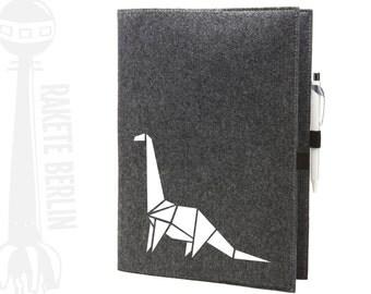 Felt cover A4 - Bronto dino origami