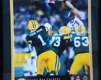Personalized framed sports posters