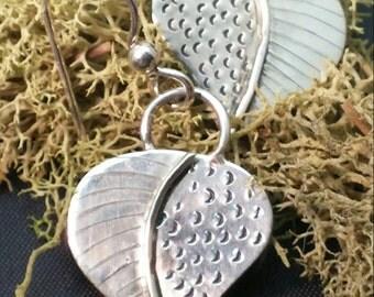 Sterling Silver Botanical Earrings