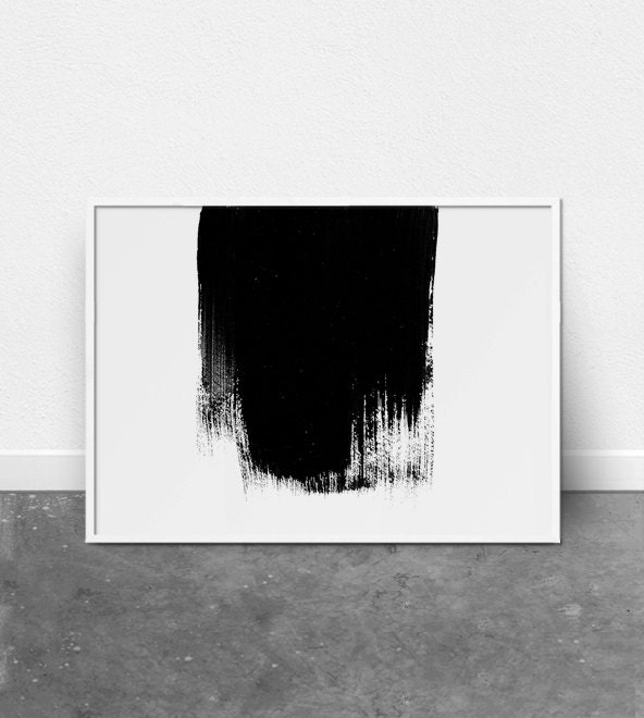 Minimalist art abstract wall art paint stroke print modern for Modern minimalist wall art