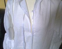 White shirt,Versailles shirt, Royalist, Louis14- 16th, Charles 2nd, Restoration, Banquet, English Civil War, French Revolution, cos Play,