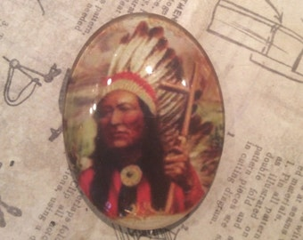 CABACHON  40x30mm NATIVE chief