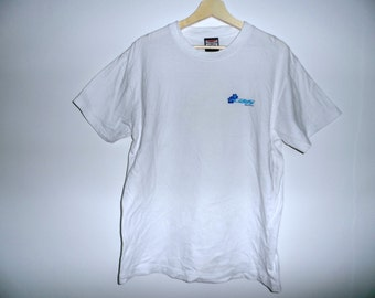 Vintage skate G and S Gordon and Smith t shirt hip hop surfing white