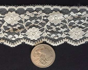 Cream Lace 45mm by 3 metres   **Free Postage**