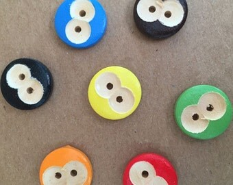 100pcs 15mm Wood Buttons 2 Holes Wood Sewing Buttons Round Wood Button NK0142