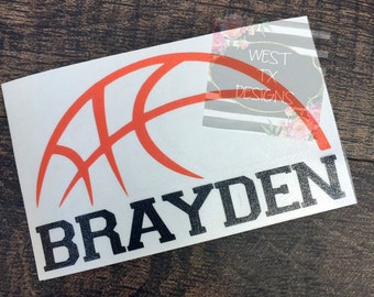 Basketball Decal | Personalized Basketball | Sports Decal | Basketball Sticker | Sports Sticker | Yeti Decal | Water bottle Decal