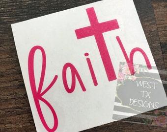 Faith Decal | Cross Decal | Vinyl Decal | Yeti Decal | Yeti Tumbler Decal | Christian Decal | Faith Sticker
