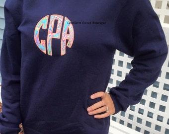 Monogrammed Crewneck Sweatshirt Comfort Colors Crewneck