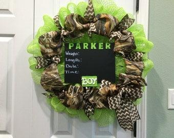 Camo baby wreath
