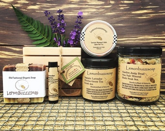 Lavender Delight+Spa Gift Set+Ecofriendly Gift+Gardener Gift+Gift For Her+Gift For Him+Wellness+Bath And Beauty+Spa Day+Get Well+Gift Box