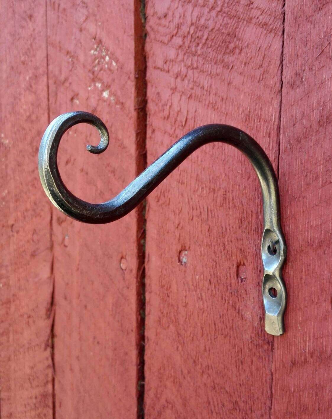 Small Hand Forged Steel Plant Hook. Planter Hanger Also Suited