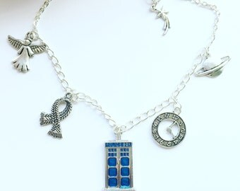 Doctor Who inspired charm necklace