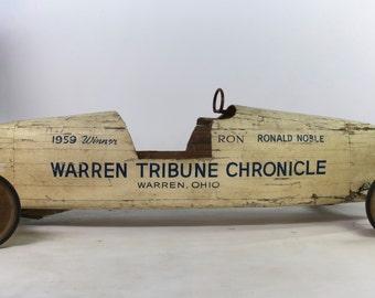 1959 Soap Box Derby Champion Cart - Warren Chronicle Tribune Ronald Noble