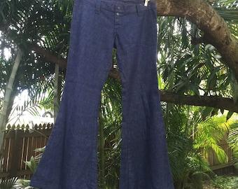 Vintage 70's original bellbottom hiphugger jeans