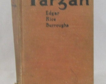 Jungle Tales Of Tarzan By Edgar Rice Burroughs, Published 1919 by Grossett and Dunlap, Vintage Hardcover,