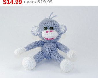 The symbol of the year 2016, The monkey, Soft Toy for Children, Amigurumi Crochet Animals, Soft Doll, Monkey Ornament, Hand Crocheted.