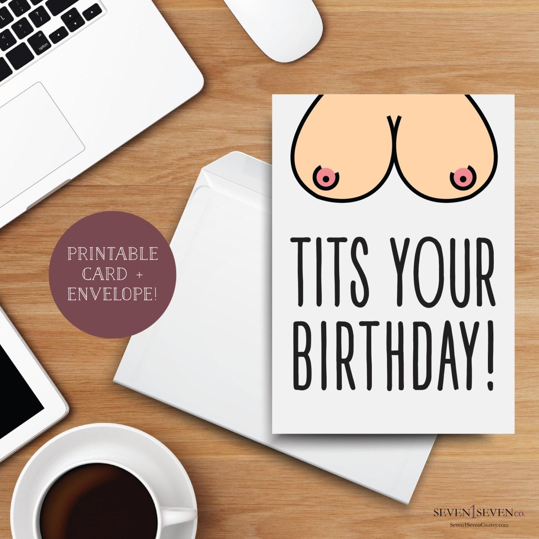 Boob birthday cards