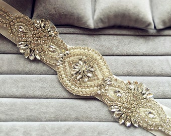 Crystal Sash Rhinestone Sash Belt Wedding belt