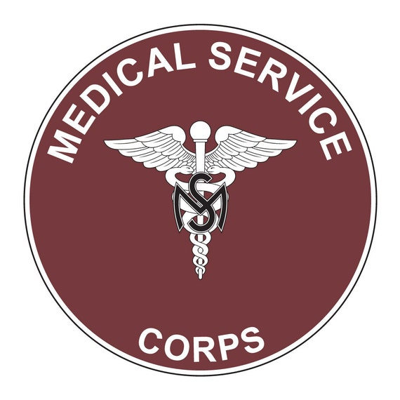 us army medical service corps plaque decal on 3m reflective