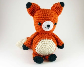 Amigurumi Red Fox, Crocheted Handmade Red Fox