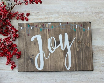 Christmas Wood Sign, Joy Christmas Sign, Rustic Christmas Sign, Farmhouse Christmas Decor, Christmas Wooden Sign, Christmas Decorations