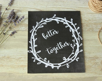 Wedding decorations rustic, Wedding decoration ideas, Printable wedding signs, Rustic wedding chalkboard print, Wedding ceremony decor, 8x10