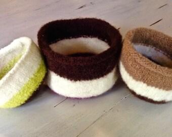 Handmade Felted Nesting Bowls