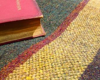 4' square Blanket handwoven in 100% virgin British tweed wool