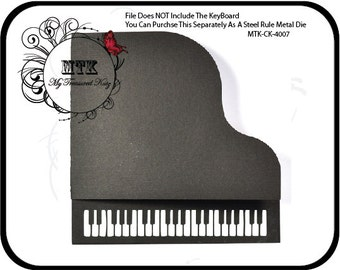 My Treasured Kutz MTK-Db-1000 Grand Piano Card Digital Cutting File Download For Digital Cutters **BONUS PDF Included -Keyboard Not Included