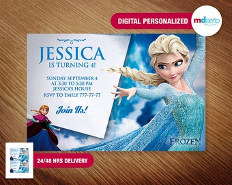 Frozen Invitation Etsy - Birthday invitation frozen theme