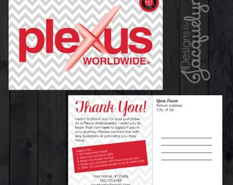 "Plexus ""Thank You for Your Purchase"" Postcard - Printed - 4x6"
