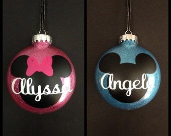 Disney Christmas Ornaments-Personalized Disney Ornaments_Personalized Ornaments-Mickey Mouse Ornament-Minnie Mouse Ornament-Disney Christmas