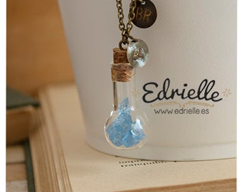 Breaking Bad necklace, Blue Meth necklace, Baby Blue, Blue Crystal, Something Blue, bottle necklace, fan art necklace, Heisenberg