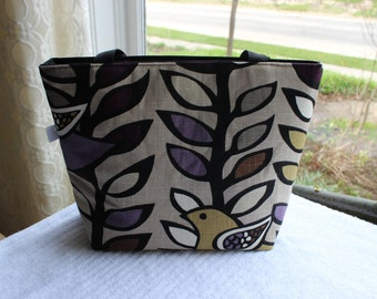Tote Bag - Two Turtle Doves (Purple)