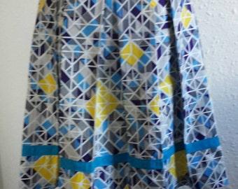 African print /Ankara Geometrical print skirt