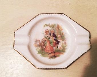 Vintage Ceramic Petite Ashtray, Trinket Holder, Jewelry Holder, Vintage Germany Ashtray