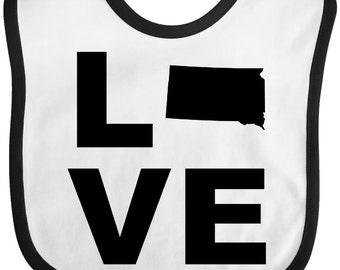 Love South Dakota Baby Bib by Inktastic