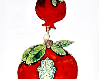 Pomegranat Hand Made Ceramics Art Design