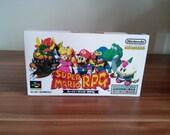Super Famicom Super Mario RPG  Repo Box NO Game Included