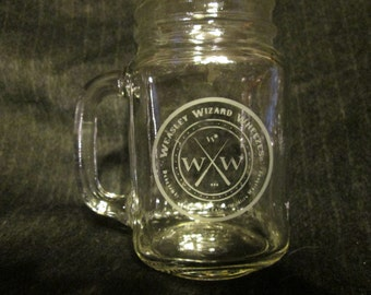 Weasley Wizard Wheezes Harry Potter Mason Jar Mug