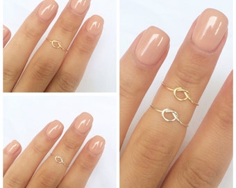 Knot Midi Rings (2 rings included)