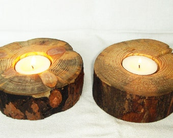 Rustic Tea light Candle Holder.Wood.Reclaimed Pine Wood.Wood candlestick.Candle holder.Wooden gift.Cute  turned houswares.Anniversary gif.