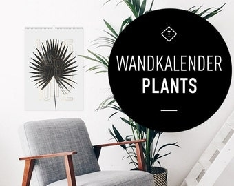 Wandkalender 2016 Plants / Calendar, Year, Scandinavian, Black and White, Puristic, Artprints, Botany