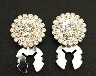 Faux Diamond Cufflinks