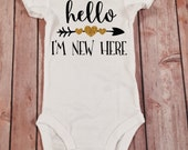 Baby Girl Clothes Hello I'm New Here...